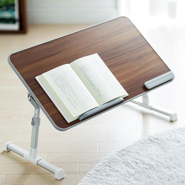 ローデスク 折りたたみ ローテーブル パソコンデスク ロータイプ コンパクト 高さ調整 角度調整 木目調(即納) sanwadirect 19
