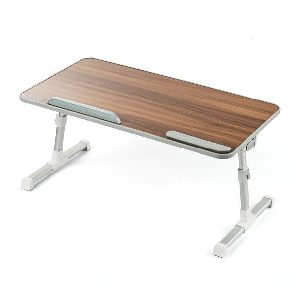 ローデスク 折りたたみ ローテーブル パソコンデスク ロータイプ コンパクト 高さ調整 角度調整 木目調(即納) sanwadirect 20