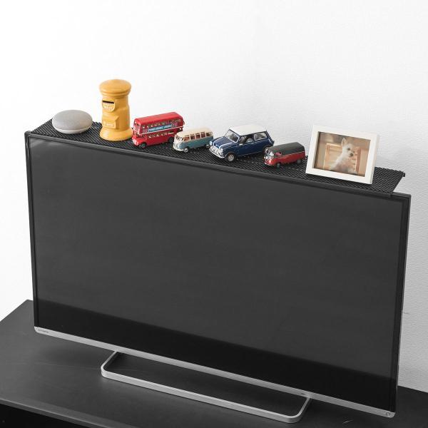 ディスプレイ テレビ 上 収納 ボード テレビ モニター 上部 収納台 モニター用 小物置 収納トレー リモコン 設置 置き場 幅90cm(即納)|sanwadirect|13