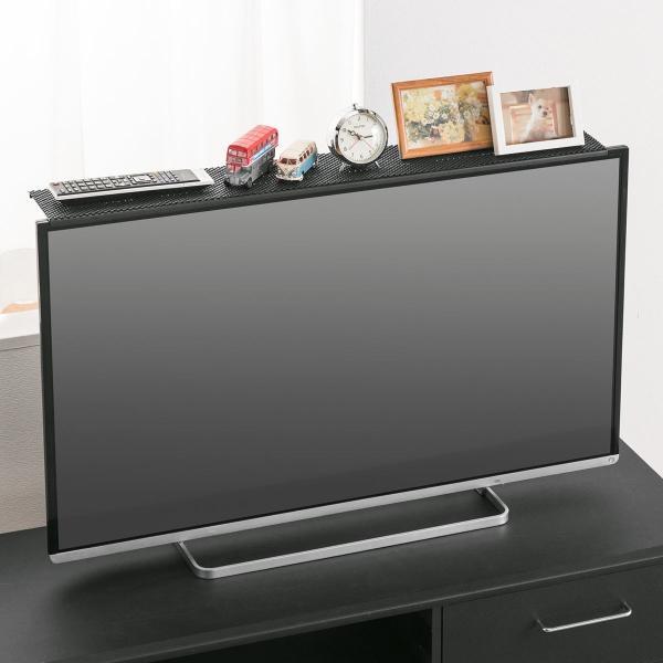ディスプレイ テレビ 上 収納 ボード テレビ モニター 上部 収納台 モニター用 小物置 収納トレー リモコン 設置 置き場 幅90cm(即納)|sanwadirect|19
