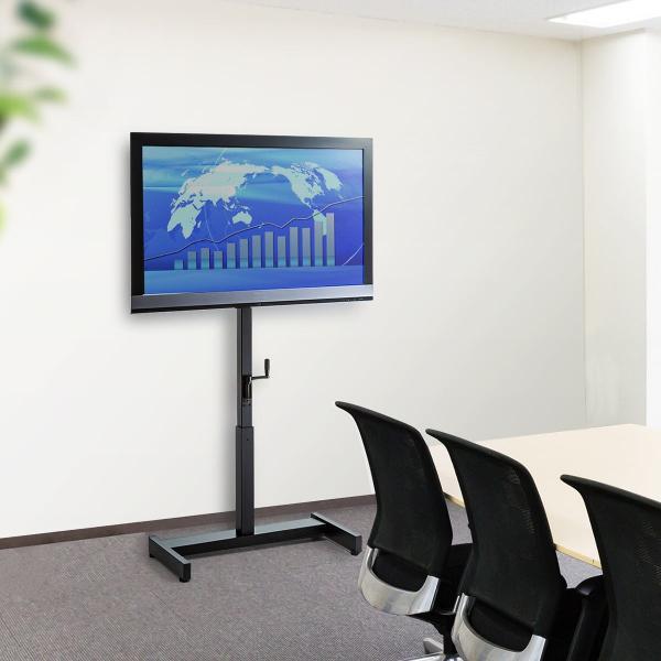 テレビスタンド 壁寄せテレビ台 手動上下昇降 32 37 42 43 49 50 52 型 インチ 対応(即納)|sanwadirect|19