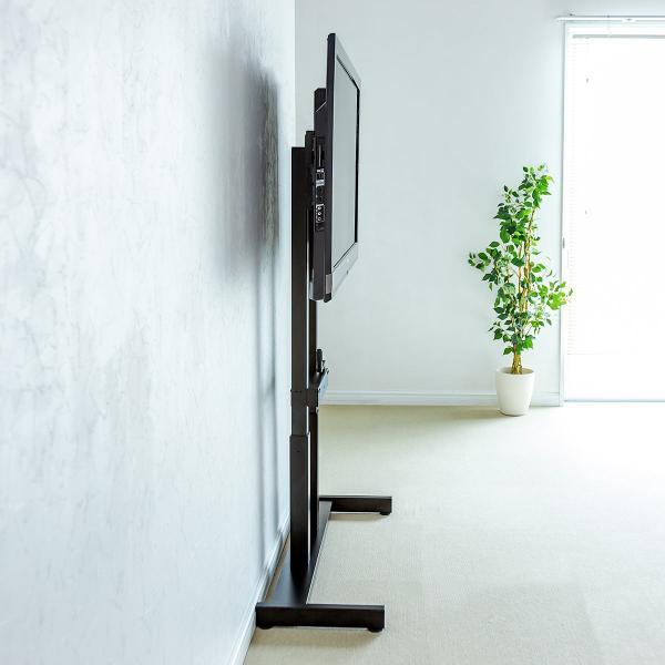 テレビスタンド 壁寄せテレビ台 手動上下昇降 55型/57型/60型/65型対応(即納)|sanwadirect|16