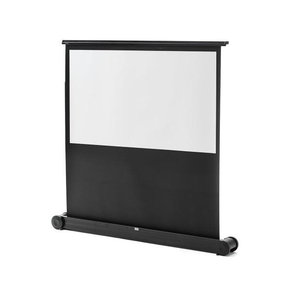 プロジェクター スクリーン 自立 キャスター付き ローラー パンタグラフ式 16:9 大画面 床置き プロジェクタースクリーン 60インチ 60型(即納)|sanwadirect|18