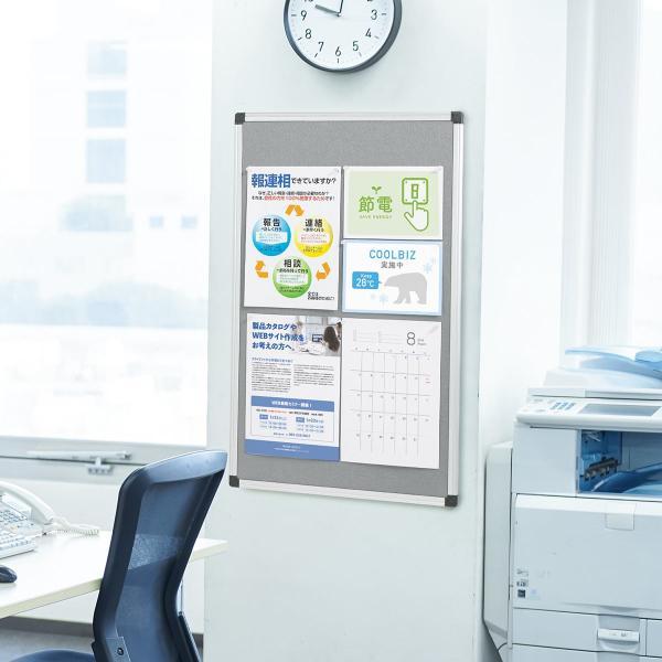 掲示板 メッセージボード レターボード フェルト 看板 壁掛け 家庭 オフィス (即納)|sanwadirect|14