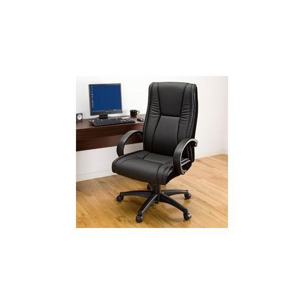 オフィスチェア ハイバック レザーチェア パソコンチェア ロッキング 肘付 椅子(即納) sanwadirect 09