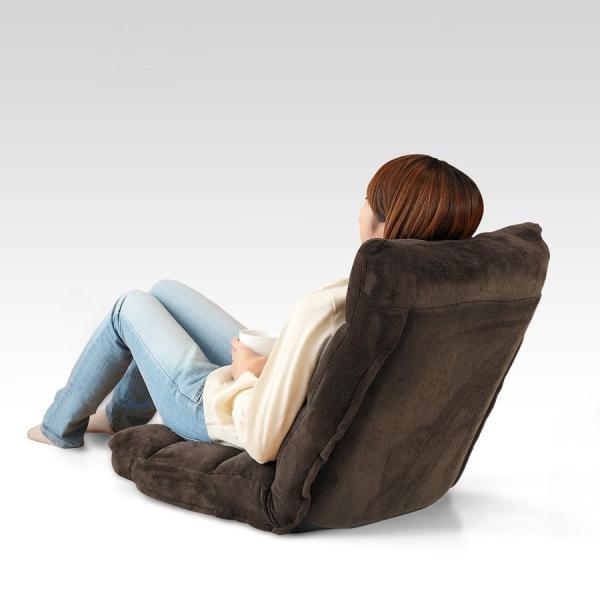 座椅子 座いす 座イス 低反発 リクライニング コンパクト 座椅子|sanwadirect|14