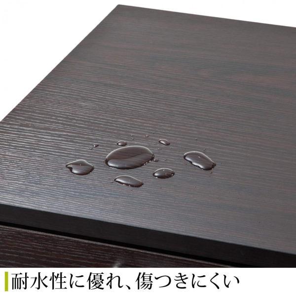 デスクワゴン 木製 キャスター付き 3段 チェスト キャビネット 引き出し 収納(即納)|sanwadirect|07