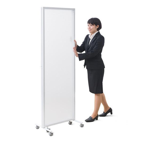 パーティション オフィス 衝立 折りたたみ 3連 半透明 パーテーション オフィス 会社(即納)|sanwadirect|17