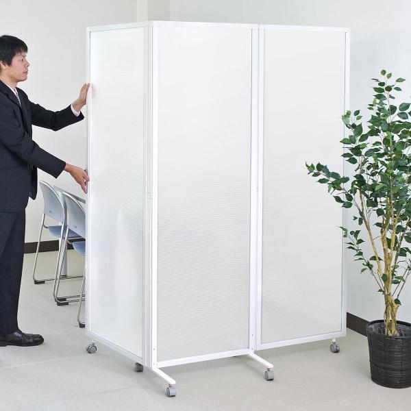 パーティション オフィス 衝立 折りたたみ 3連 半透明 パーテーション オフィス 会社(即納)|sanwadirect|19