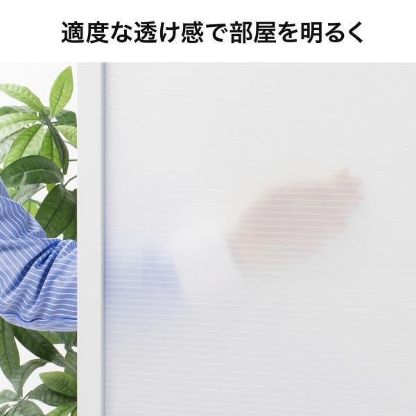 パーティション オフィス 衝立 折りたたみ 3連 半透明 パーテーション オフィス 会社(即納)|sanwadirect|08