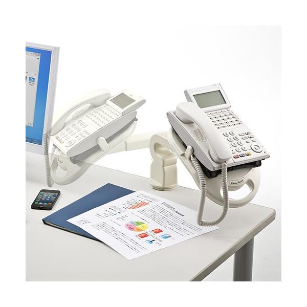 電話台 TEL台 テレフォンアーム 回転機能付|sanwadirect|02