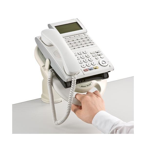 電話台 TEL台 テレフォンアーム 回転機能付|sanwadirect|05