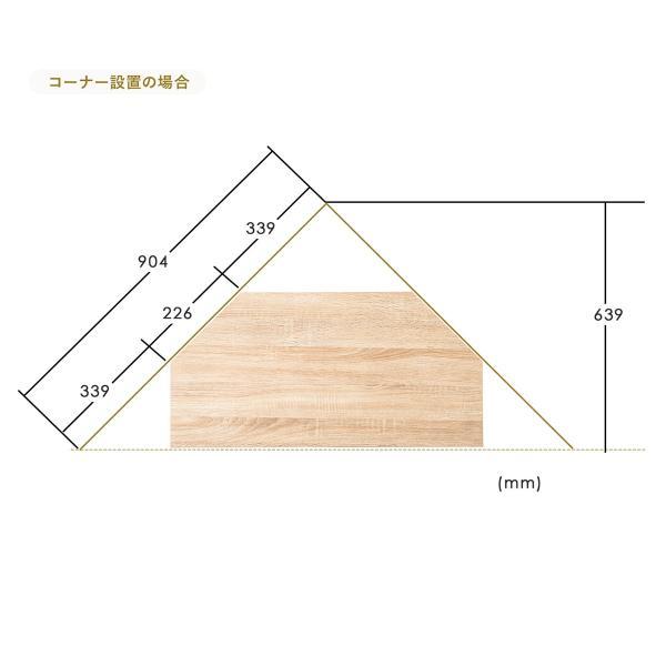 テレビ台 コーナーボード テレビラック テレビボード TV台 ローボード 32型 W80cm(即納) sanwadirect 04