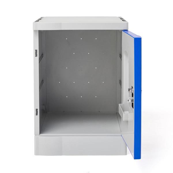 ロッカー プラスチックロッカー 2段セット品 100-LBOX003BL×2 100-LBOXCB001×1 底板セット 軽量 縦横連結可能 工具不要 簡単組立 ブルー(即納) sanwadirect 13