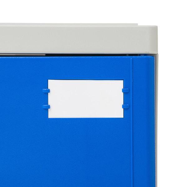 ロッカー プラスチックロッカー 2段セット品 100-LBOX003BL×2 100-LBOXCB001×1 底板セット 軽量 縦横連結可能 工具不要 簡単組立 ブルー(即納) sanwadirect 17