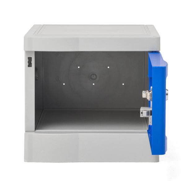 ロッカー プラスチックロッカー 2段セット品 100-LBOX004BL×2 100-LBOXCB002×1 底板セット 軽量 縦横連結可能 工具不要 簡単組立 ブルー(即納) sanwadirect 11