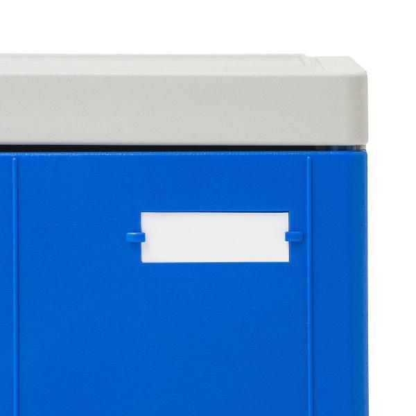 ロッカー プラスチックロッカー 2段セット品 100-LBOX004BL×2 100-LBOXCB002×1 底板セット 軽量 縦横連結可能 工具不要 簡単組立 ブルー(即納) sanwadirect 13