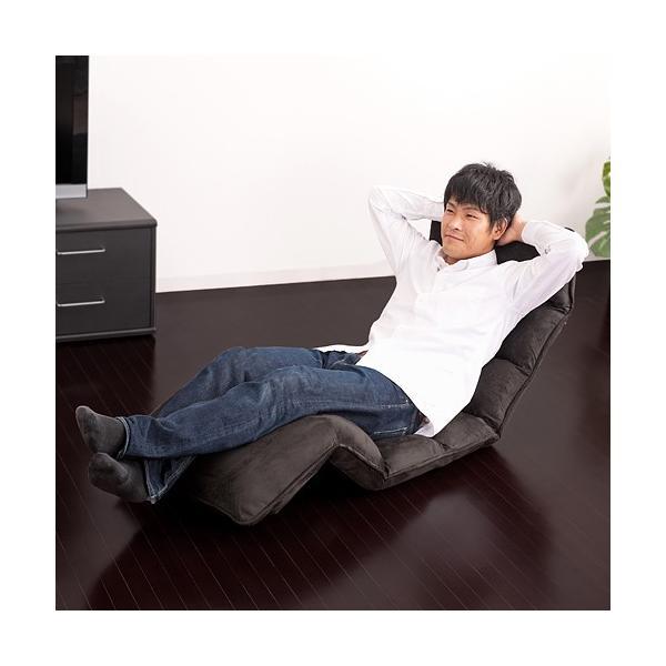 座椅子 座いす 座イス リクライニング 低反発 ハイバック sanwadirect 02