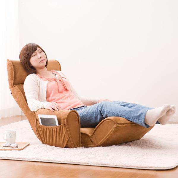 座椅子 リクライニング  肘掛け 肘付き 低反発座椅子 座いす 座イス フロアチェア 低反発 おしゃれ ハイバック 1人掛け リラックスチェアー(即納)|sanwadirect|17