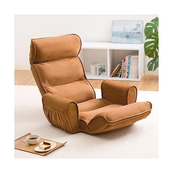 座椅子 リクライニング  肘掛け 肘付き 低反発座椅子 座いす 座イス フロアチェア 低反発 おしゃれ ハイバック 1人掛け リラックスチェアー(即納)|sanwadirect|19