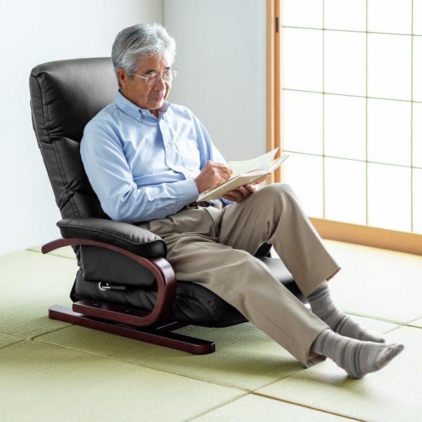 座椅子 回転 座いす ハイバック(即納)|sanwadirect|12