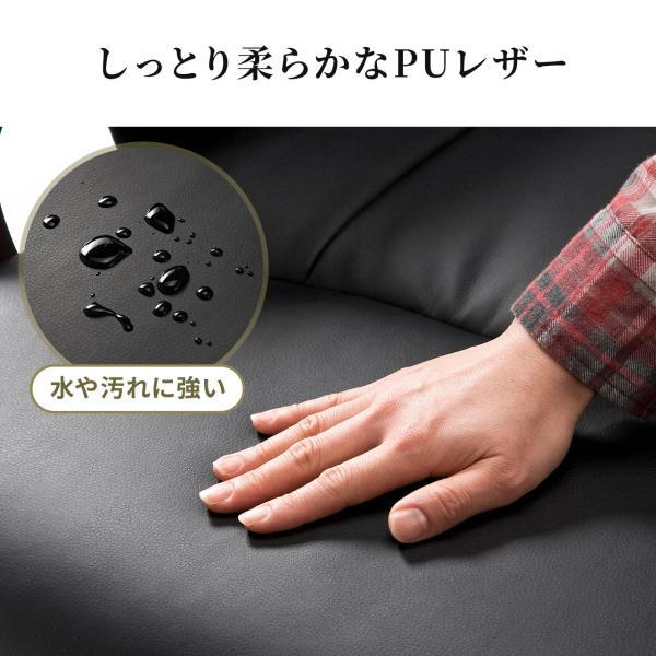 座椅子 回転 座いす ハイバック(即納)|sanwadirect|10