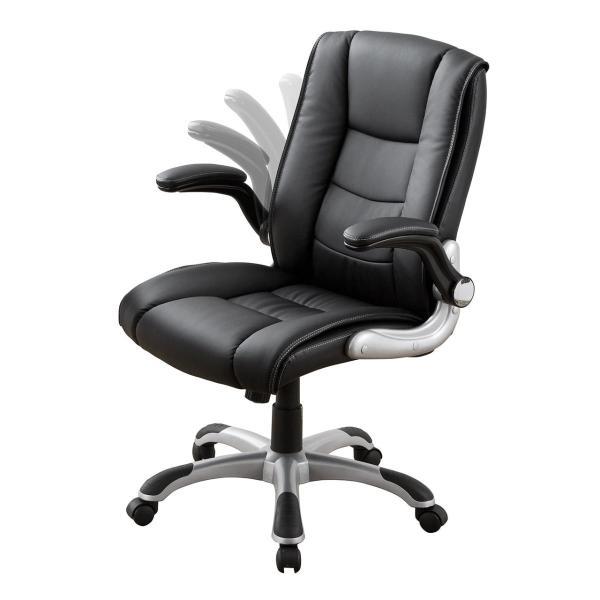 オフィスチェア 肘掛け 跳ね上げ アームレスト キャスター付 社長椅子(即納)|sanwadirect|13