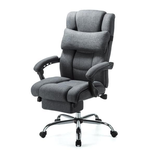 リクライニングチェア オフィスチェア リラックスチェアー 肘付き オットマン付き 椅子(即納)|sanwadirect|15