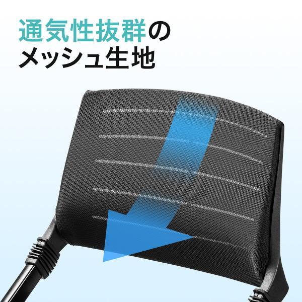 パイプ椅子 テーブル付き メモ台付き 折りたたみ椅子 会議椅子 ミーティングチェア キャスター付 スタッキング メッシュ 低反発 1脚|sanwadirect|09
