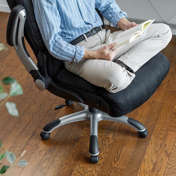 リクライニングチェア チェアー オフィスチェア 社長椅子 ロッキング ハイバック パーソナルチェア|sanwadirect|17