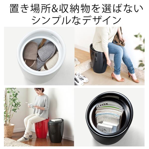 スツール 収納 ボックス 丸い 丸型(即納) sanwadirect 03