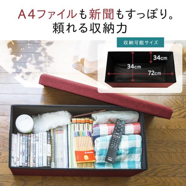 スツール 収納 ボックス ベンチ(即納)|sanwadirect|04