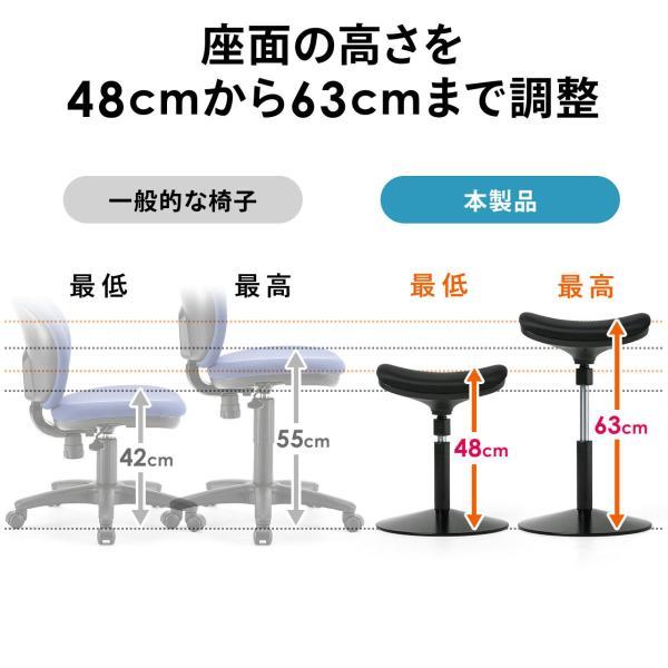 オフィスチェア エルゴノミクス 人間工学 パソコンチェア 椅子 イス(即納)|sanwadirect|08