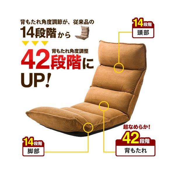 座椅子 座いす 座イス リクライニング 低反発 マイクロファイバー メッシュ(即納)|sanwadirect|02