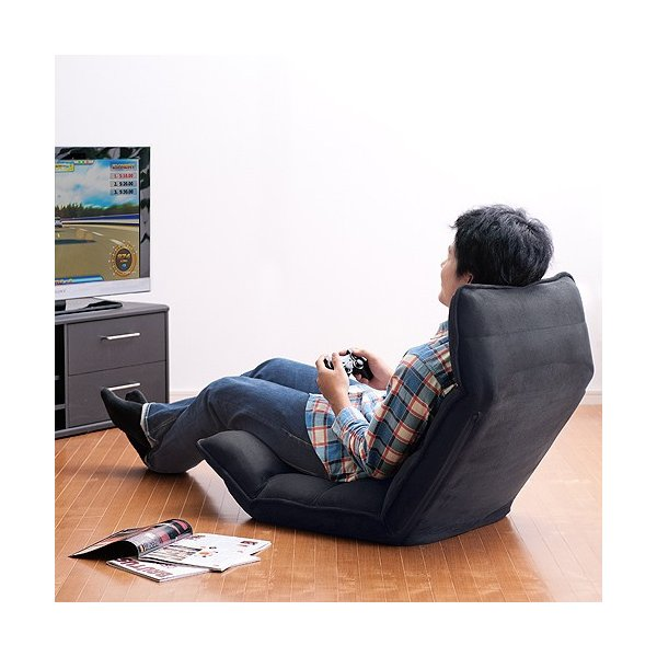 座椅子 座いす 座イス リクライニング 低反発 マイクロファイバー メッシュ(即納)|sanwadirect|12