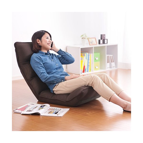 座椅子 座いす 座イス リクライニング 低反発 マイクロファイバー メッシュ(即納)|sanwadirect|13