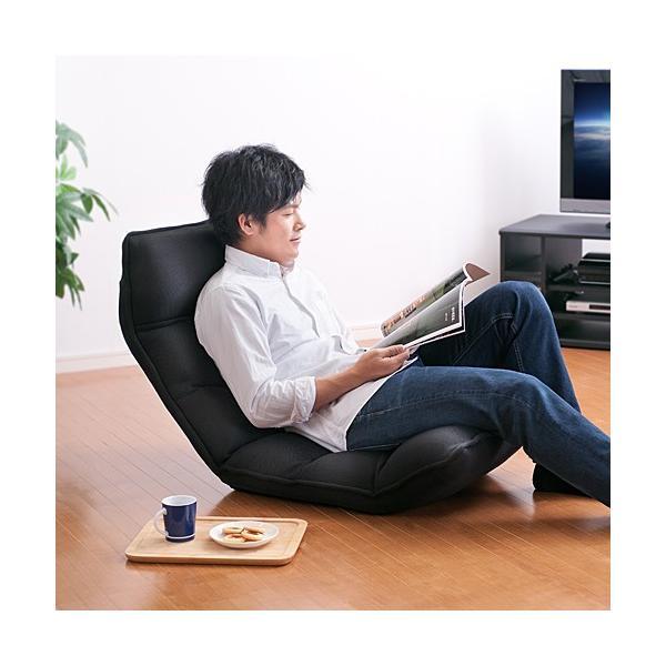 座椅子 座いす 座イス リクライニング 低反発 マイクロファイバー メッシュ(即納)|sanwadirect|14