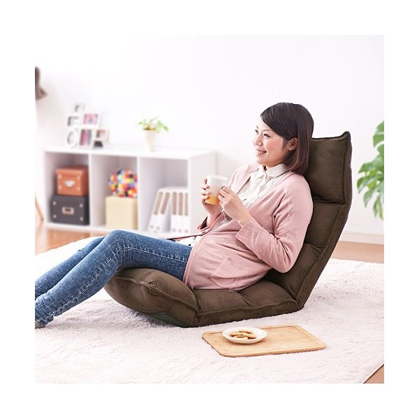 座椅子 座いす 座イス リクライニング 低反発 マイクロファイバー メッシュ(即納)|sanwadirect|15