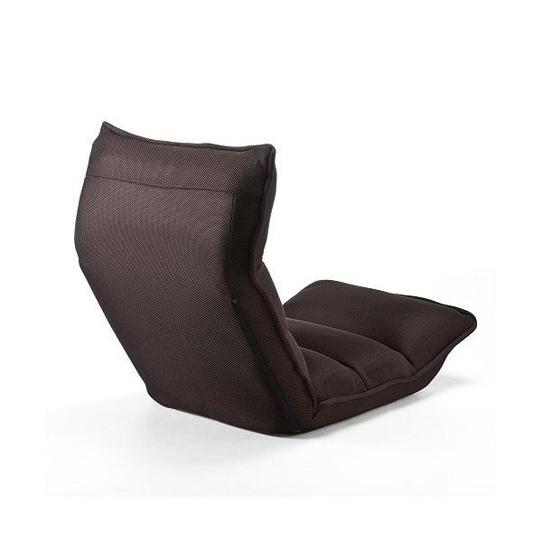 座椅子 座いす 座イス リクライニング 低反発 マイクロファイバー メッシュ(即納)|sanwadirect|08