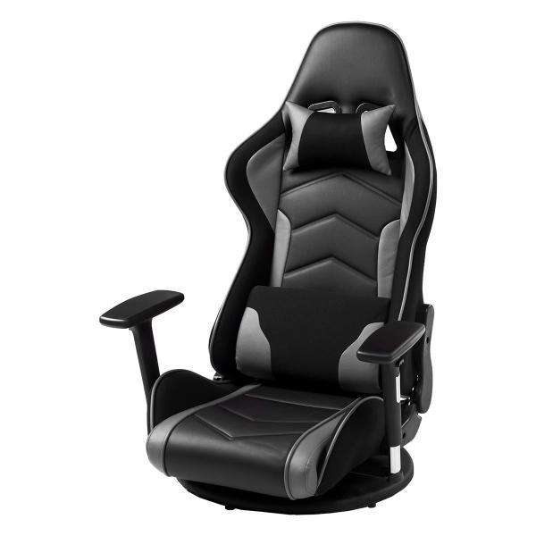 座椅子 ゲーミング座椅子 座いす 座イス リクライニング チェア ハイバック 肘掛け 肘付き 回転 ゲーミングチェア|sanwadirect|20