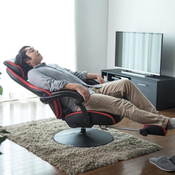 リクライニング座椅子 座いす 座イス 回転 ハイバック ゲーミング座椅子 肘掛け 肘付き ゲーミングチェア(即納)|sanwadirect|17