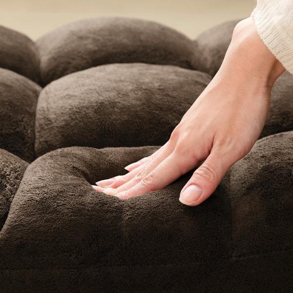 座椅子 リクライニング コンパクト おしゃれ フロアチェア リビングチェア 低反発 一人掛けソファ 座イス 座いす ざいす 日本製42段ギア|sanwadirect|15