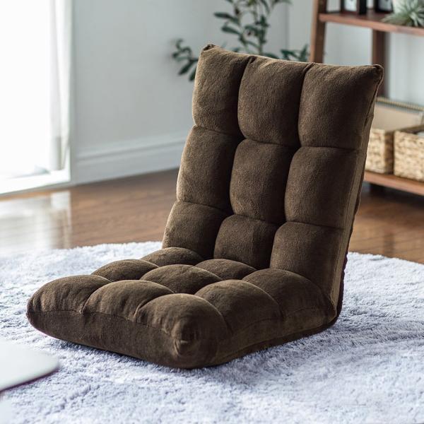 座椅子 リクライニング コンパクト おしゃれ フロアチェア リビングチェア 低反発 一人掛けソファ 座イス 座いす ざいす 日本製42段ギア|sanwadirect|19