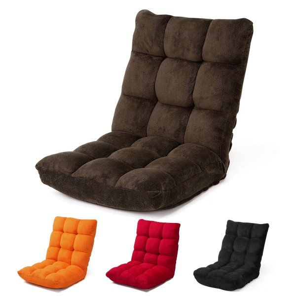 座椅子 リクライニング コンパクト おしゃれ フロアチェア リビングチェア 低反発 一人掛けソファ 座イス 座いす ざいす 日本製42段ギア|sanwadirect|20