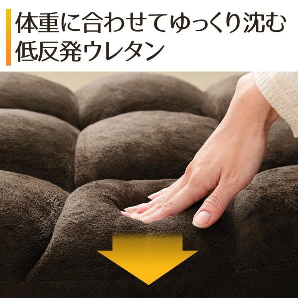 座椅子 リクライニング コンパクト おしゃれ フロアチェア リビングチェア 低反発 一人掛けソファ 座イス 座いす ざいす 日本製42段ギア|sanwadirect|04
