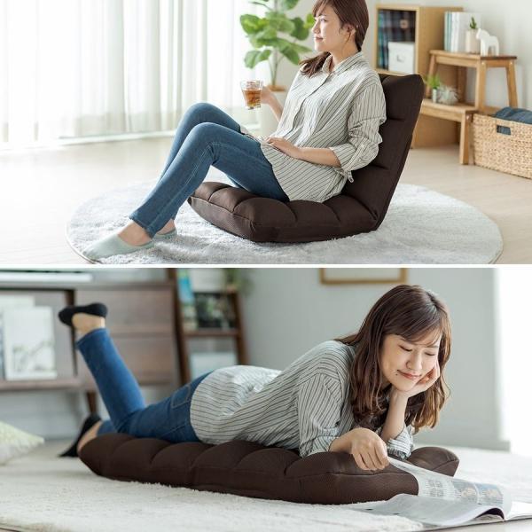 座椅子 リクライニング 低反発 メッシュ  コンパクト 座いす 座イス おしゃれ フロアチェア リラックスチェアー(即納)|sanwadirect|12