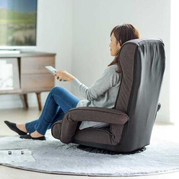 座椅子 リクライニング 回転座椅子 肘掛付き 肘付き おしゃれ 回転 座いす 座イス レバー式  ポケットコイル チェア フロアチェア|sanwadirect|16