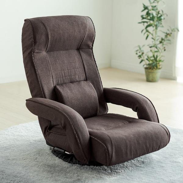 座椅子 リクライニング 回転座椅子 肘掛付き 肘付き おしゃれ 回転 座いす 座イス レバー式  ポケットコイル チェア フロアチェア|sanwadirect|19