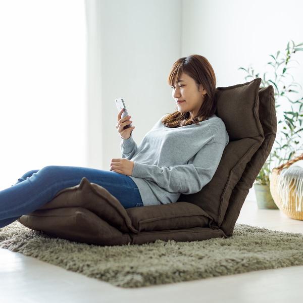 座椅子 座いす 座イス リクライニング 高反発 座椅子 ダブルクッション リラックスチェアー|sanwadirect|15