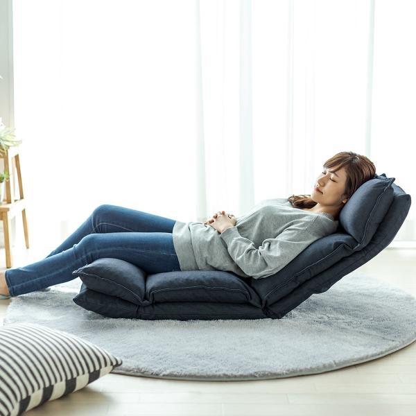 座椅子 座いす 座イス リクライニング 高反発 座椅子 ダブルクッション リラックスチェアー|sanwadirect|17